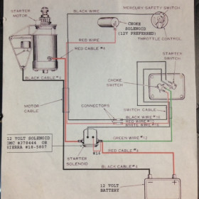 1954-55 12 Volt Wiring Diagram